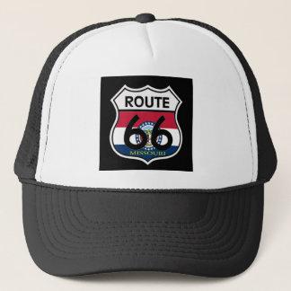 Missouri Flag Route 66 Shield Trucker Hat
