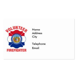 Missouri Flag Volunteer Firefighter Cross Pack Of Standard Business Cards
