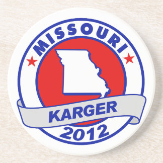 Missouri Fred Karger Beverage Coasters