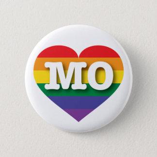 Missouri Gay Pride Rainbow Heart - Big Love 6 Cm Round Badge