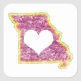 missouri grunge love square sticker