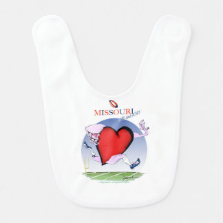 missouri head heart, tony fernandes baby bib