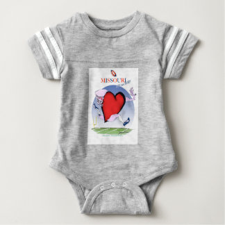 missouri head heart, tony fernandes baby bodysuit