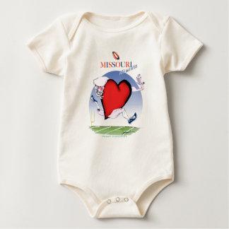 missouri head heart, tony fernandes baby bodysuit