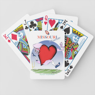 missouri head heart, tony fernandes bicycle playing cards