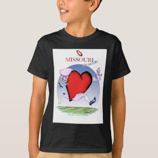 missouri head heart, tony fernandes T-Shirt