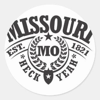 Missouri Heck Yeah Est 1821 Round Sticker
