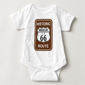 Missouri Historic Route 66 Baby Bodysuit