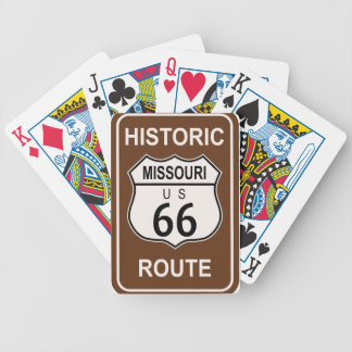 Missouri Historic Route 66 Bicycle Playing Cards