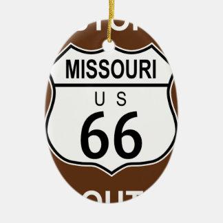 Missouri Historic Route 66 Ceramic Oval Decoration