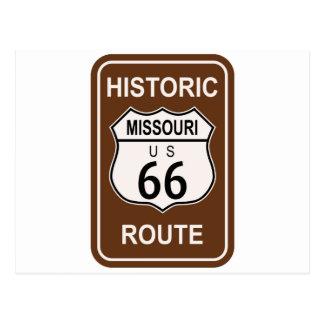 Missouri Historic Route 66 Postcard