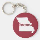 Missouri Home Basic Round Button Key Ring