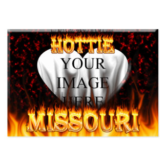 Missouri Hottie fire and red marble heart Business Card Templates