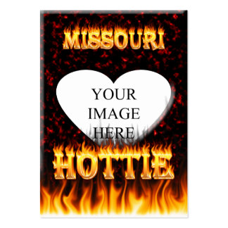 Missouri Hottie fire and red marble heart. Pack Of Chubby Business Cards
