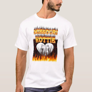 Missouri Hottie fire and red marble heart. T-Shirt