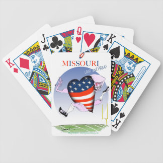missouri loud and proud, tony fernandes bicycle playing cards
