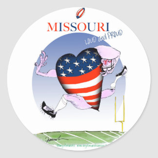 missouri loud and proud, tony fernandes round sticker