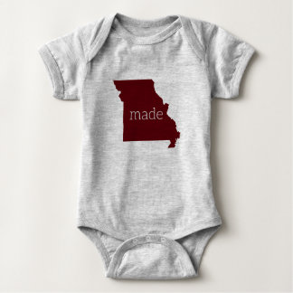 Missouri Made Baby Bodysuit {Maroon and Gray}