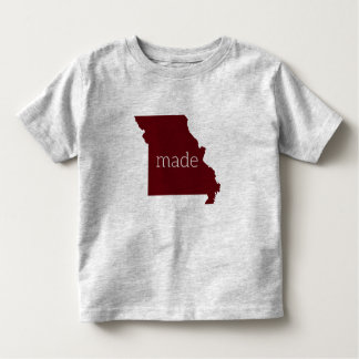 Missouri Made Toddler Tee {Maroon and Gray}
