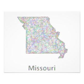 Missouri map 11.5 cm x 14 cm flyer
