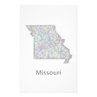 Missouri map 14 cm x 21.5 cm flyer