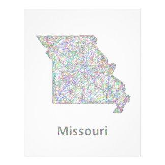 Missouri map 21.5 cm x 28 cm flyer