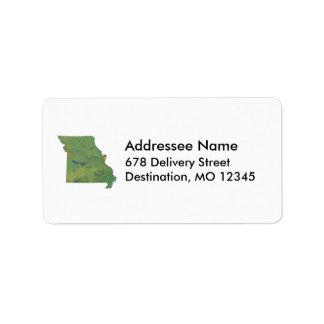 Missouri Map Address Label