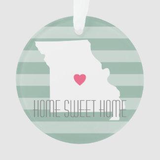 Missouri Map Home State Love with Custom Heart