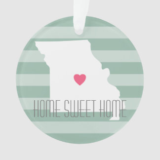 Missouri Map Home State Love with Custom Heart Ornament