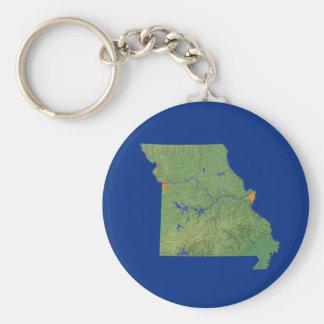 Missouri Map Keychain