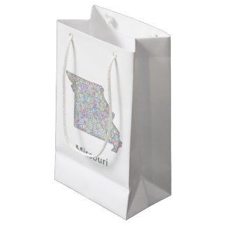 Missouri map small gift bag