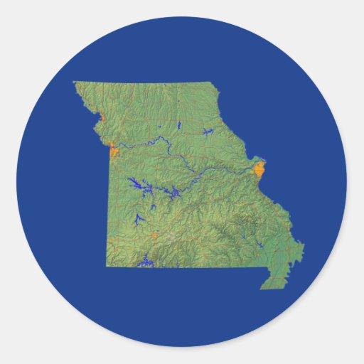 Missouri Map Sticker