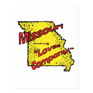 Missouri MO US Motto ~ Misery Loves Company Postcards