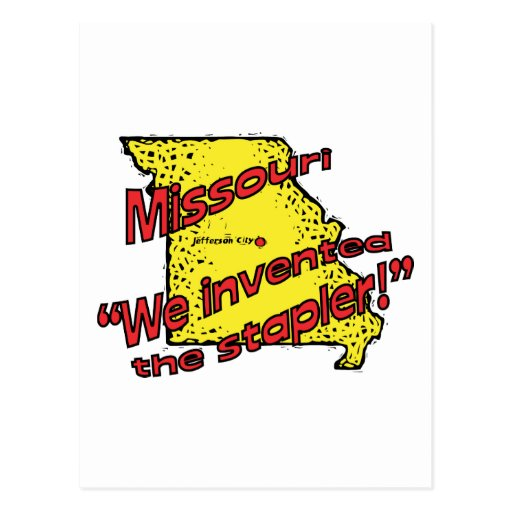 Missouri MO US Motto ~ We Invented The Stapler Post Cards