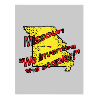 Missouri MO US Motto ~ We Invented The Stapler Postcard