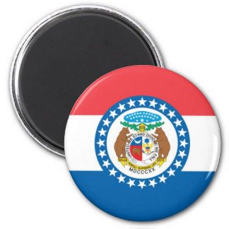 MIssouri Official State Flag Magnet