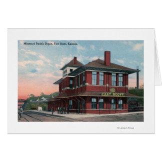 Missouri Pacific Railroad Depot Card