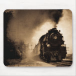 Missouri Pacific Steam Passenger Sepia Mouse Pad