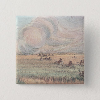 Missouri prairie fire 15 cm square badge