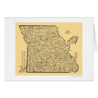 Missouri Railroad Map 1897 Card