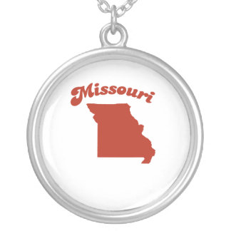 MISSOURI Red State Round Pendant Necklace