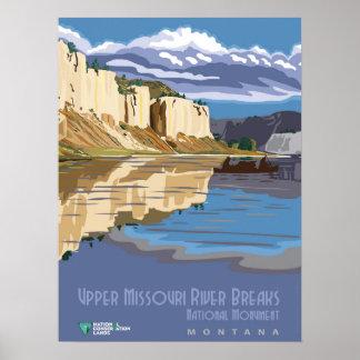 Missouri River Breaks Poster