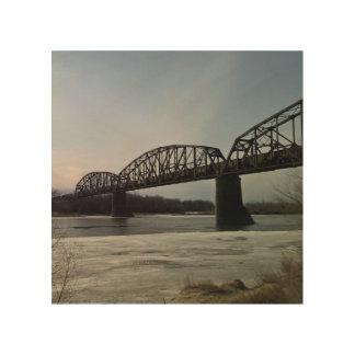 Missouri River Train Bridge Wood Wall Decor