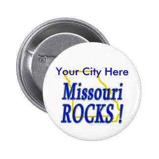 Missouri Rocks ! 6 Cm Round Badge