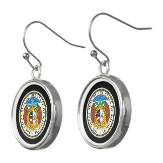Missouri seal, American state seal Earrings