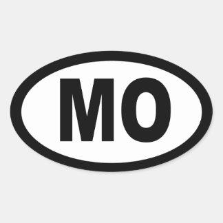 Missouri - sheet of 4 oval car stickers