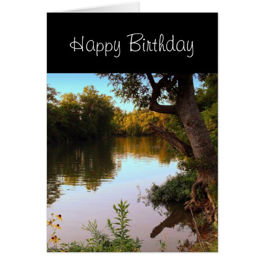 Missouri Shoal Creek at Dusk Birthday Card for Him