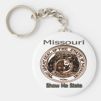 Missouri Show Me State Seal Basic Round Button Key Ring