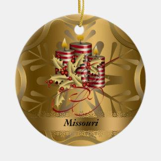 Missouri State Christmas Ornament