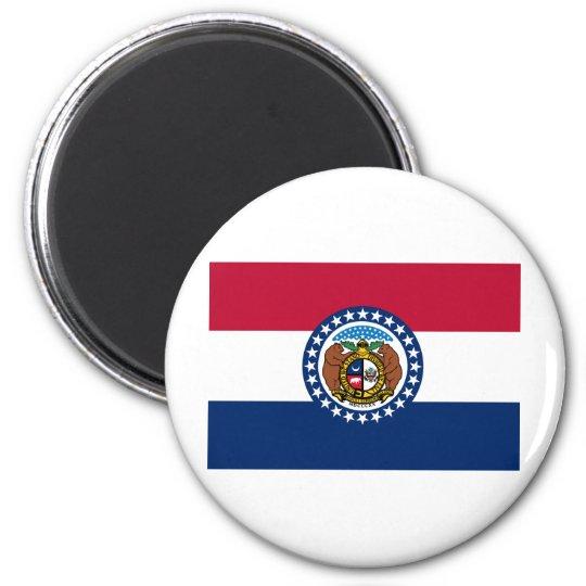 Missouri State Flag 6 Cm Round Magnet